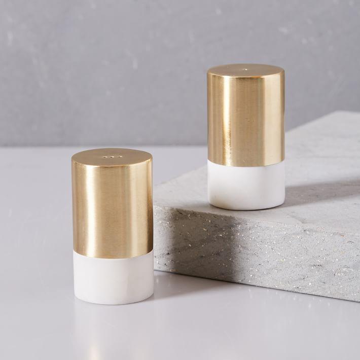 Modern Gold Salt And Pepper Set