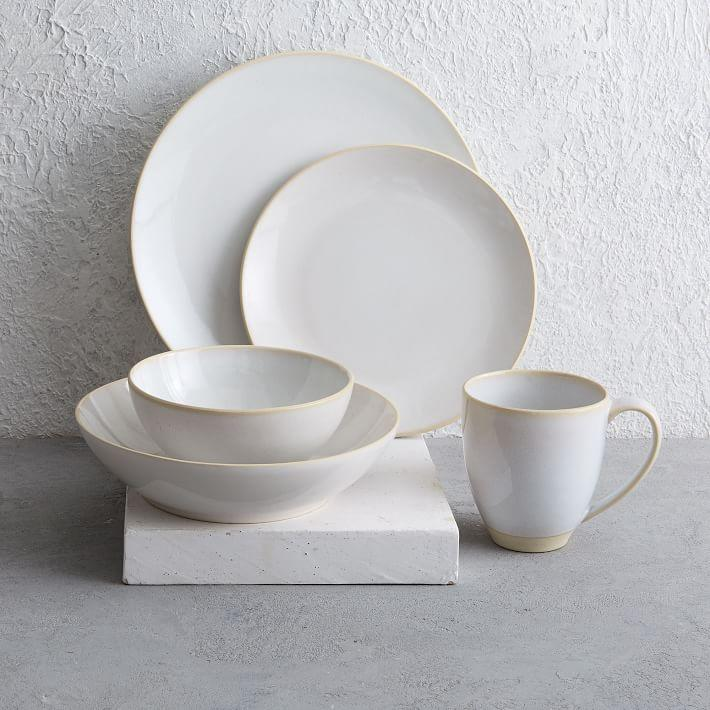 & Alta White Reactive Glaze Dinnerware Set
