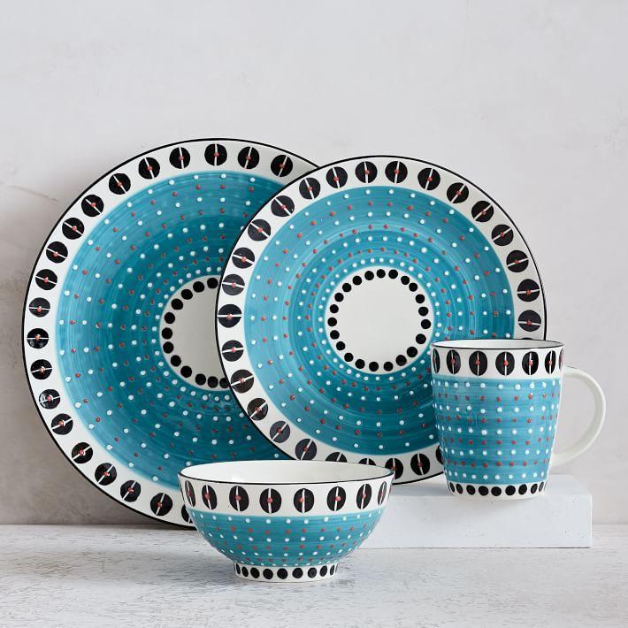 Potters Light Blue Workshop Dinnerware Set Magnificent Patterned Dinnerware Sets