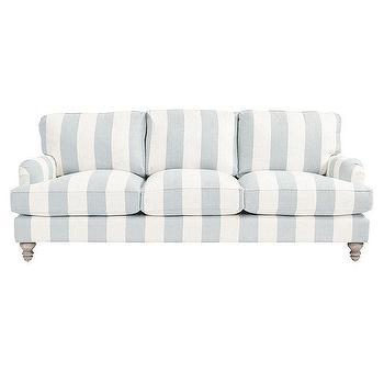 Berry Gray White Striped Sofa