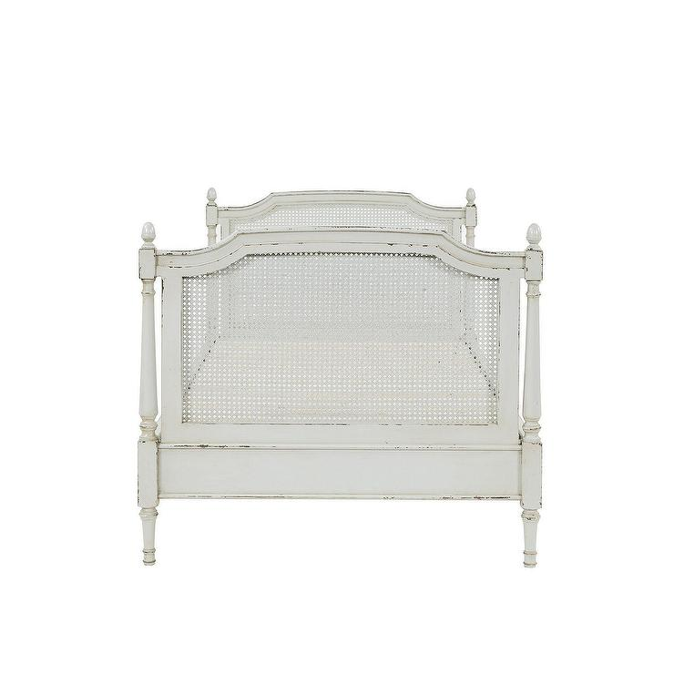 Casa Florentina Puccini Vintage White Cane Daybed