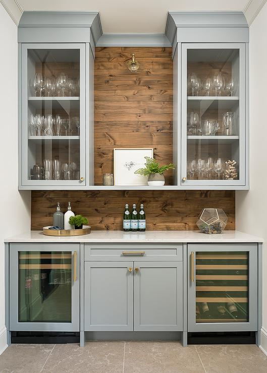 Salvaged Wood Pantry Doors Design Ideas