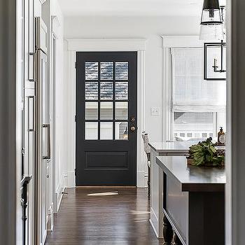 Black Door In White Kitchen