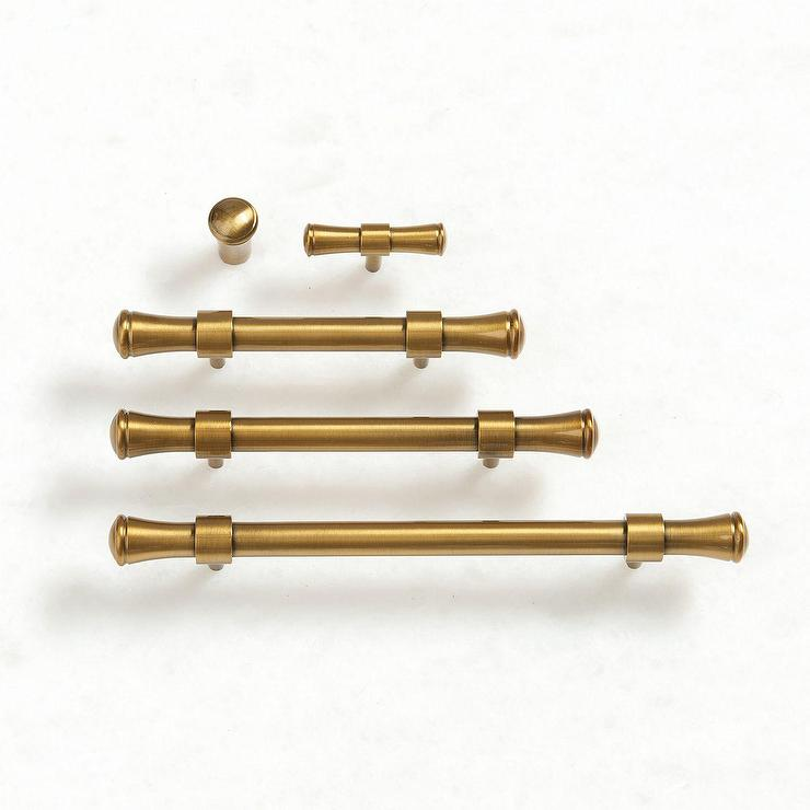 - Paulette Burnished Brass Cabinet Hardware