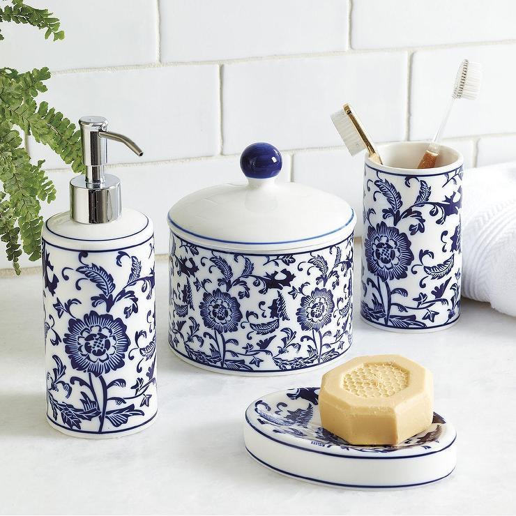 Floral Porcelain Bath Collection - Products, bookmarks, design ...