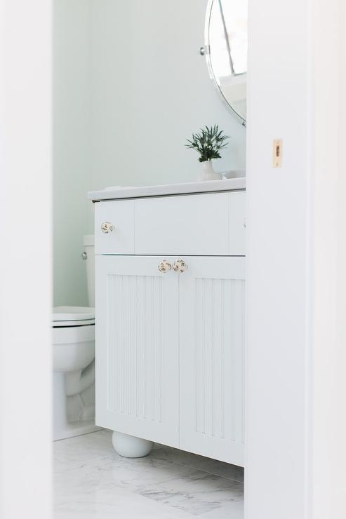 White Beadboard Cabinets