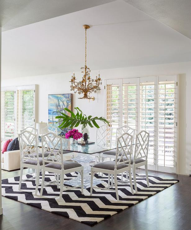Marvelous White Bamboo Chairs With Black And White Chevron Rug Bralicious Painted Fabric Chair Ideas Braliciousco
