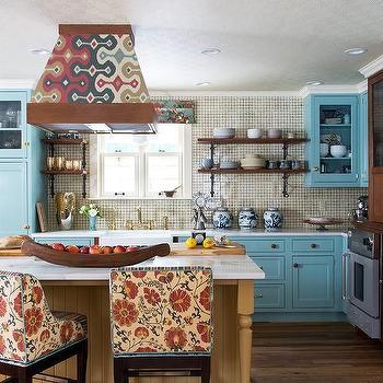 Blue Country Kitchen Design Ideas