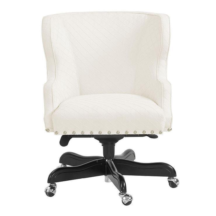 Carson Cream Black Wingback Desk Chair