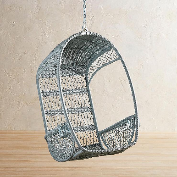 Swingasan Light Blue Wicker Hanging Chair
