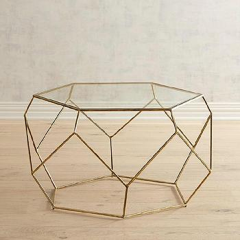 Brooke Hexagonal Coffee Table Z Gallerie