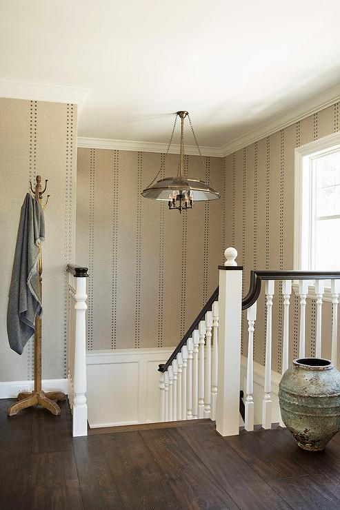 Staircase Wainscoting Transitional Entrance Foyer