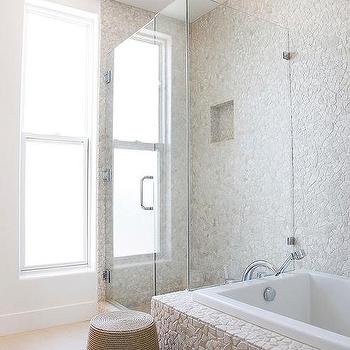 Shower With River Rocks Design Ideas