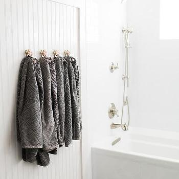 White Beadboard Bathroom Design Ideas