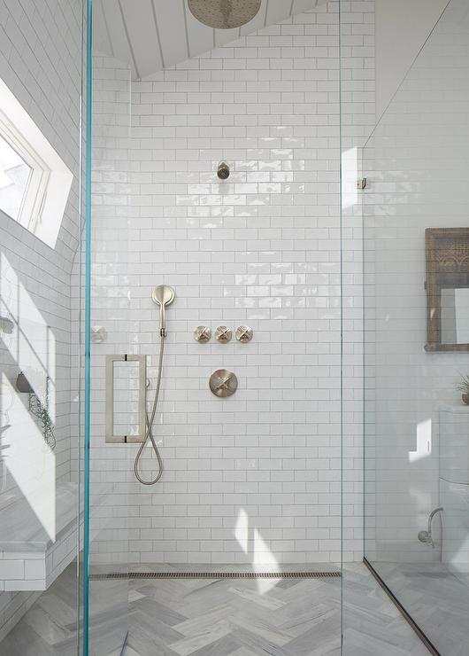 Wood Like Shower Tiles Design Ideas