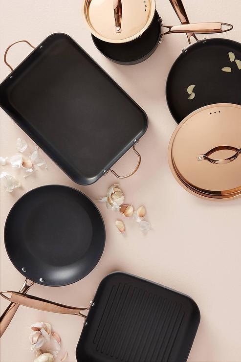 Berghoff Black Rose Gold Handled Cookware Set