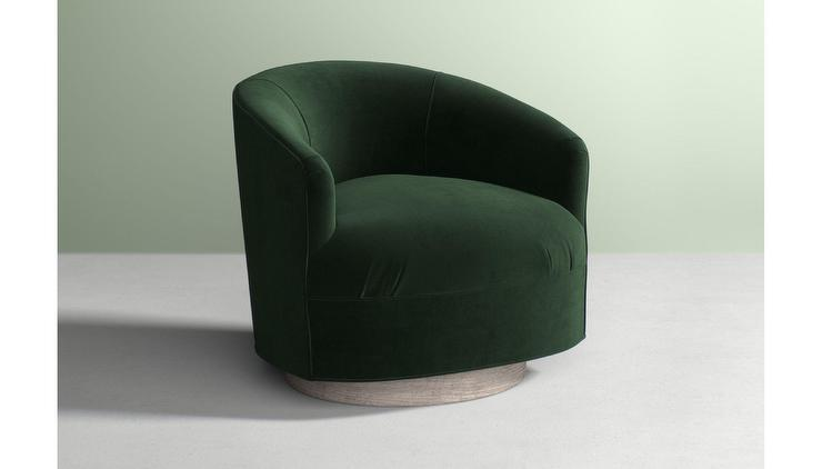 Bacharach Teal Swivel Barrel Chair