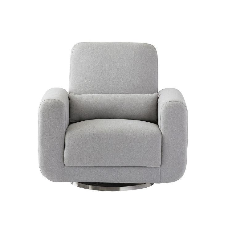 Brilliant Babyletto Tuba Gray Swivel Glider Chair Beatyapartments Chair Design Images Beatyapartmentscom