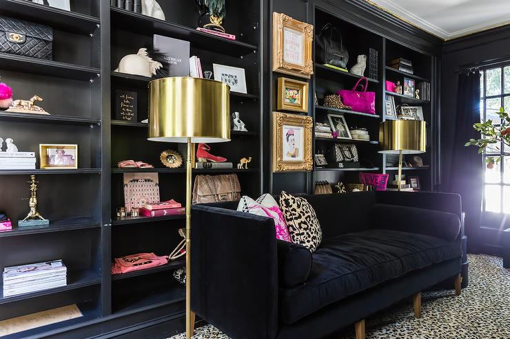 Leopard Sofa Eclectic Living Room Charles Spada