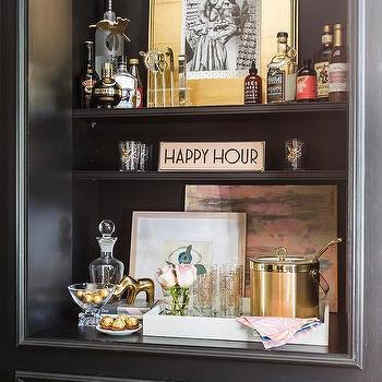 Home Office Bar Shelves Design Ideas