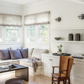 Superbe Sunroom Light Wood Herringbone Wood Floor