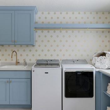 Laundry Room Clothes Rod Design Ideas
