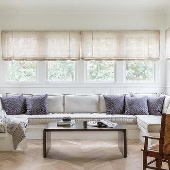 Built In Sunroom Bench Design Ideas