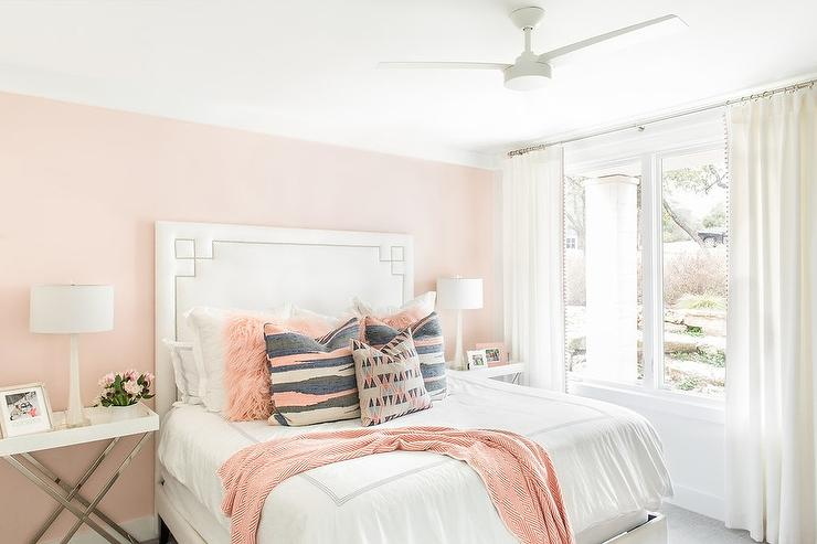 White Pink And Gray Girls Bedroom Colors Transitional Girl S Room