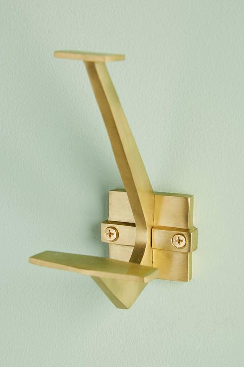Aerin Angled Gold Iron Wall Hook