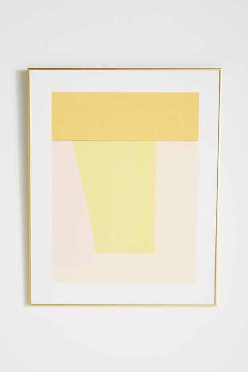 Mystery Geometric Yellow Wall Art