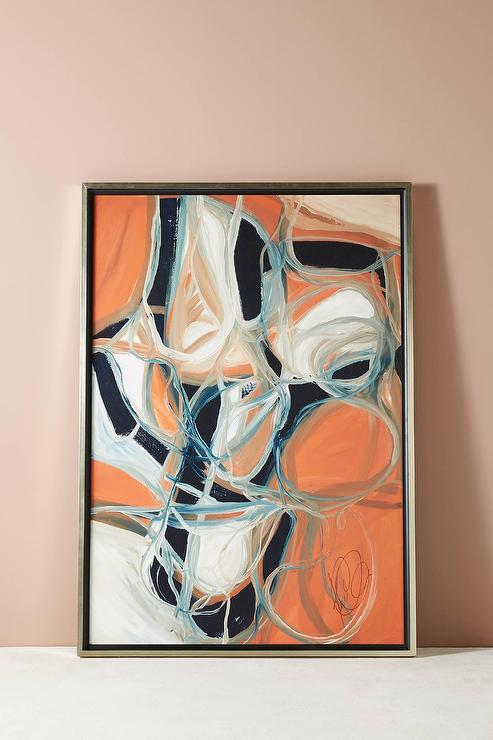 Intersecting Thoughts Orange Motif Wall Art