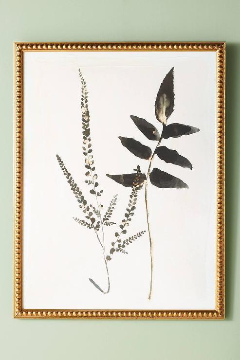 Upright Fern Black White Frame Wall Art