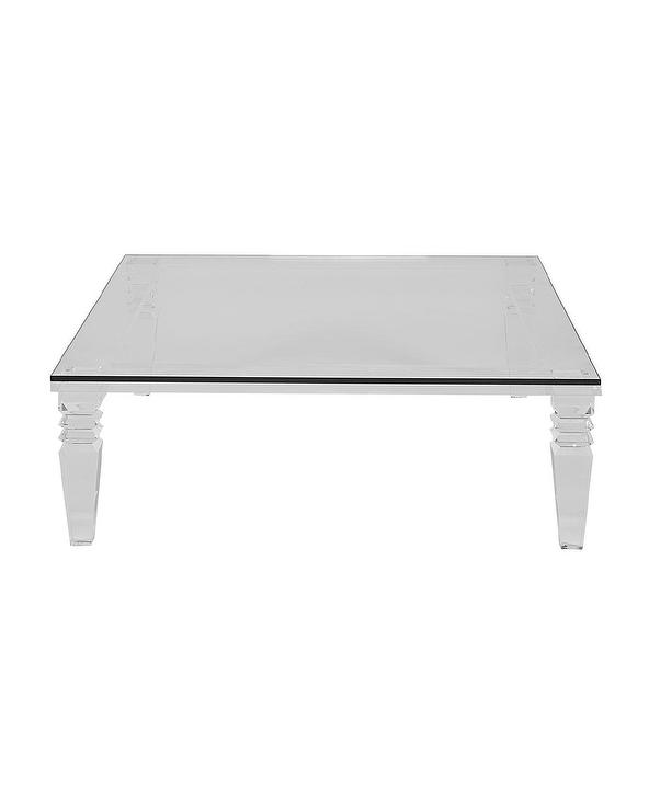 Christelle Square Large Acrylic Glass Coffee Table
