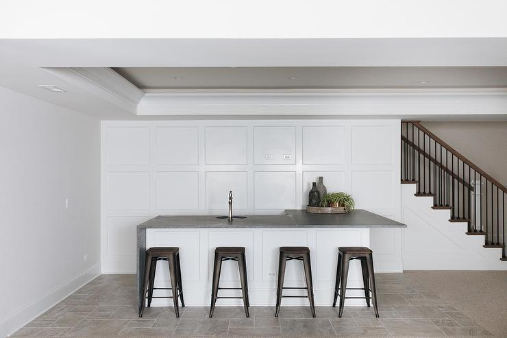 L Shaped Basement Bar Design Ideas