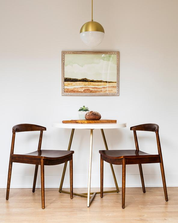 Small Mid Century Modern Dining Space Vintage Dining Room