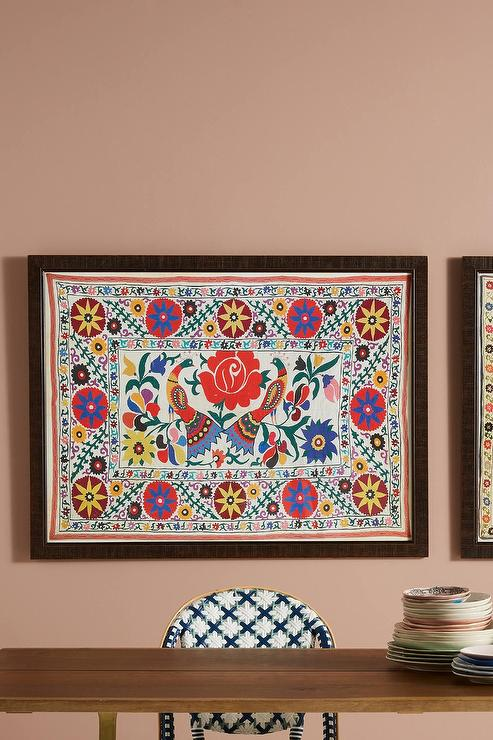 sc 1 st  Decorpad & Color Floral Medallion Framed Quilt Wall Art