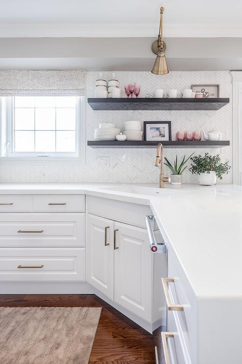 Corner Kitchen Sink With Enameled Cast Iron Sink Transitional Kitchen