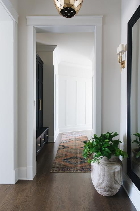 Benjamin Moore Pale Almond Traditional Entrance Foyer