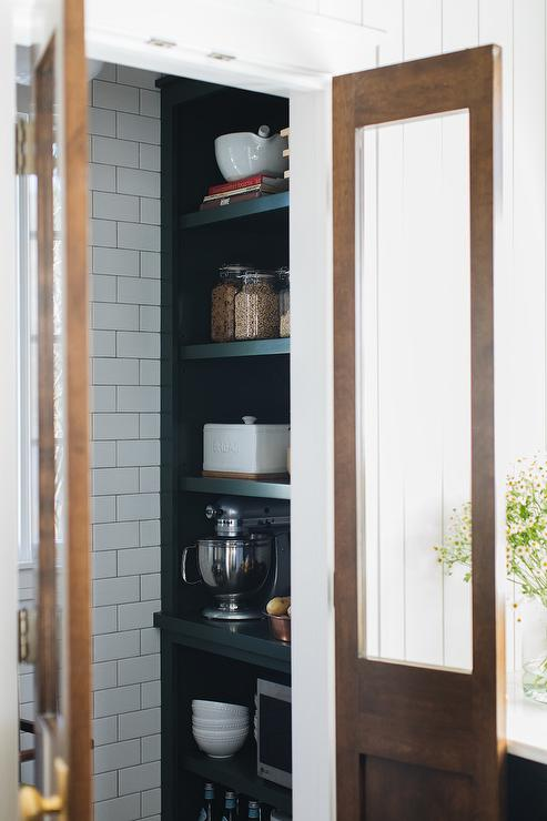 Pantry With Bi Fold Doors Country Kitchen Atlanta