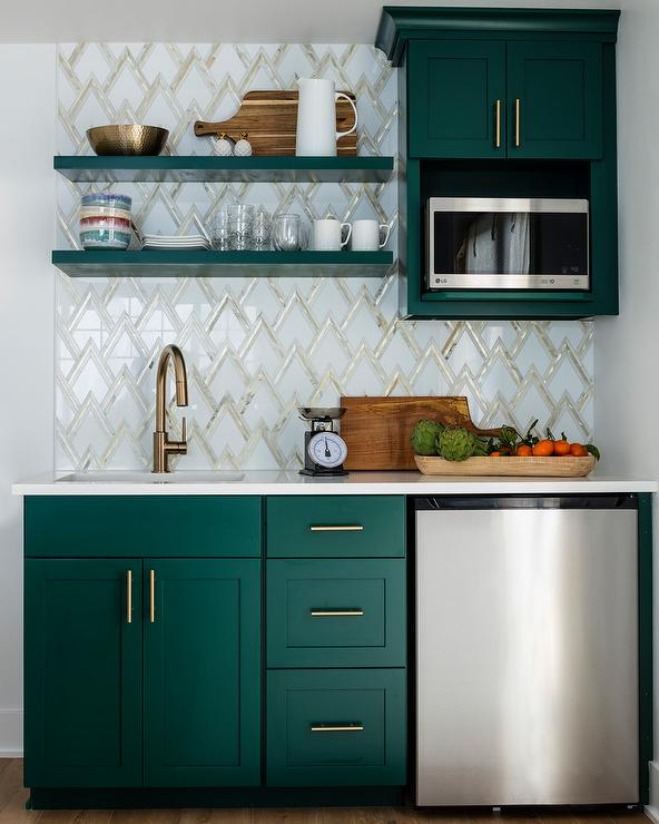 Greene And Greene Kitchen Cabinets: Hunter Green Cabinets
