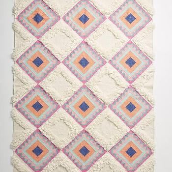 Sivas Wool Pink And Grey Kilim Rug
