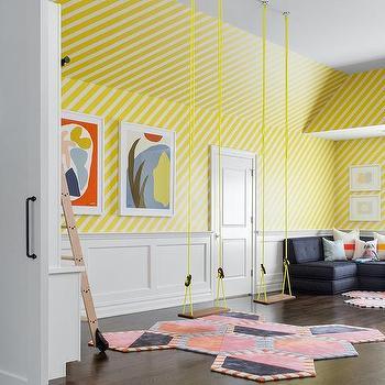 Neon Yellow Playroom Swings