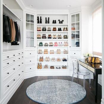 Closet Clear Acrylic Vanity Chair Design Ideas