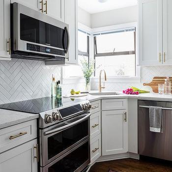 Kitchen Corner Windows Design Ideas
