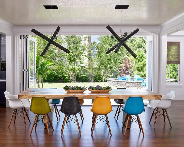 Mixed Color Dining Chairs Design Ideas