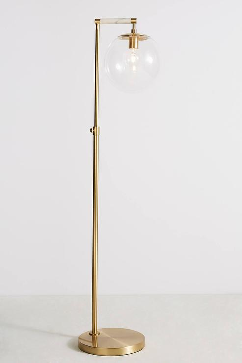 Arteriors Home Grey Caviar Glass Floor Lamp