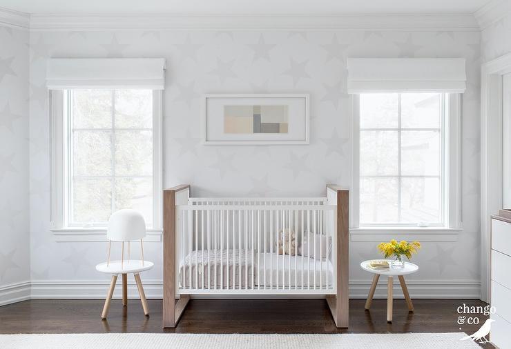Surprising Two Tone Mid Century Modern Crib Between Windows Andrewgaddart Wooden Chair Designs For Living Room Andrewgaddartcom