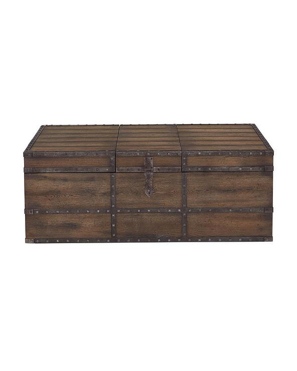 Casella Distressed Trunk Style Coffee Table