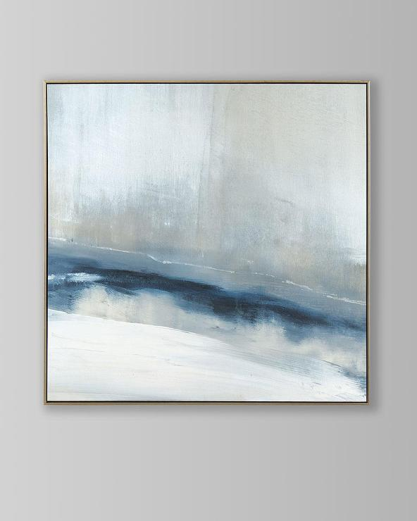 Enigma Blue Abstract Framed Wall Art