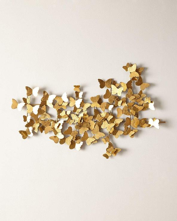 & Gold Butterfly Metal Wall Sculpture